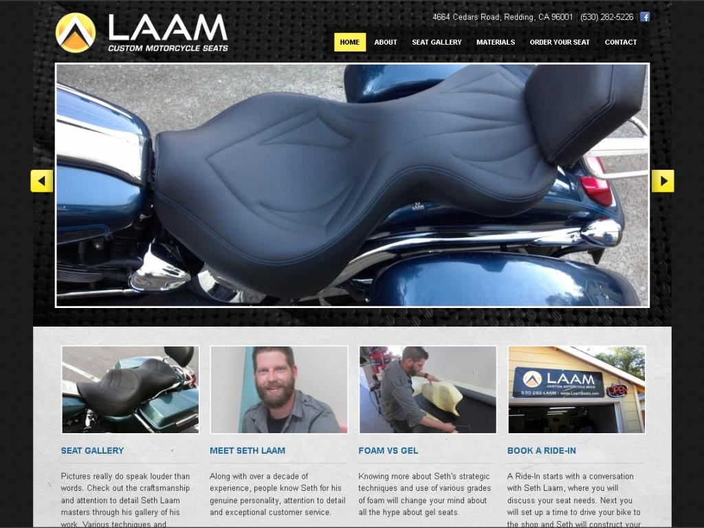 Laam Custom Motorcycle Seats | Redding Web